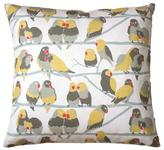 Aimee Wilder Lovebirds Paradise Square Pillow