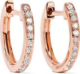 Anita Ko Huggy 18-karat Rose Gold Diamond Earrings - one size