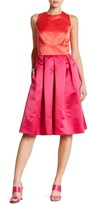 Sangria Fit-and-Flare Twofer Gown
