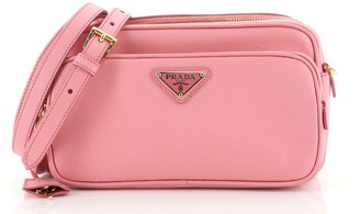 Prada Front Pocket Crossbody Bag Saffiano Leather Small
