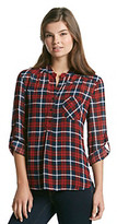 Romeo  Juliet Couture Romeo & Juliet Couture® Woven Plaid Shirt