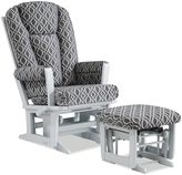 Dutailier Modern Multi-Position Reclining Glider and Nursing Ottoman in Grey/Charcoal