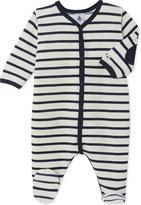 Petit Bateau Baby's striped cotton sleepsuit
