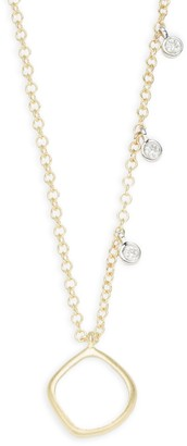 Meira T 14K Yellow Gold, 14K White Gold, White Diamond & Chalcedony Pendant Necklace