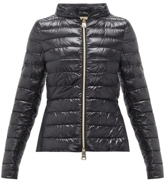 Herno Ultralight Funnel-neck Quilted Jacket - Womens - Black