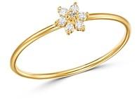 Zoë Chicco 14K Yellow Gold Prong Diamonds Tiny Diamond Flower Ring