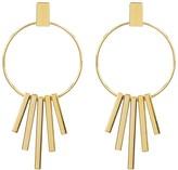 Argentovivo Fringed Hoop Earrings