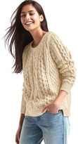Gap Beaded cable knit sweater