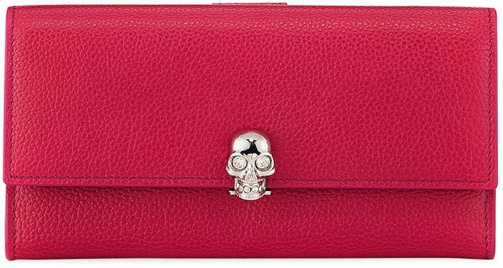 Alexander McQueen Skull Continental Leather Wallet
