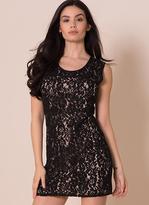 Missy Empire Eleanor Black Lace Embellished Mini Dress