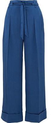 Roland Mouret Perkins Silk-blend Jacquard Wide-leg Pants