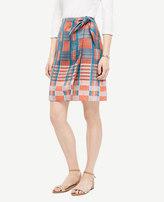 Ann Taylor Plaid Tie-Waist Skirt