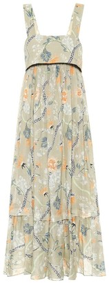 Chloé Thin Strap Low Back Floral Maxi Dress