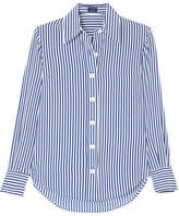 Joseph Garcon Striped Silk Crepe De Chine Shirt - Blue