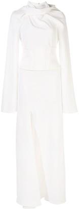 Ellery long-sleeve asymmetric dress