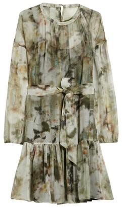 Max & Co. Printed Silk Crepe de Chine Mini Dress