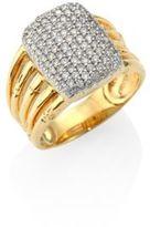 John Hardy Bamboo Diamond & 18K Yellow Gold Five-Row Ring