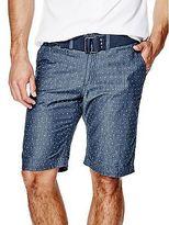 GUESS Men's Finees Chambray Shorts