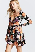 Forever 21 Floral Surplice Wrap Dress
