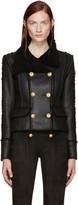 Balmain Black Shearling Jacket