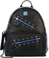 MCM big zip backpack - unisex - Leather - One Size