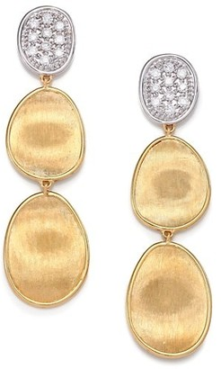 Marco Bicego Lunaria Diamond & 18K Yellow Gold Triple-Drop Earrings