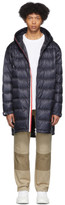 Moncler Navy Down Trayas Coat