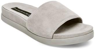 Steven by Steve Madden Women's Saunders Flat Sandal Grey Suede 8 M US