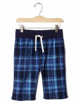 Gap Pull-on plaid utility shorts