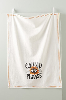 Dazey LA Positivity Please Dish Towel By Dazey LA in White Size DISHTOWEL