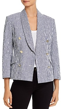 Derek Lam 10 Crosby Myla Double-Breasted Cropped Blazer