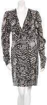 Stella McCartney Abstract Print Silk Long Sleeve Dress