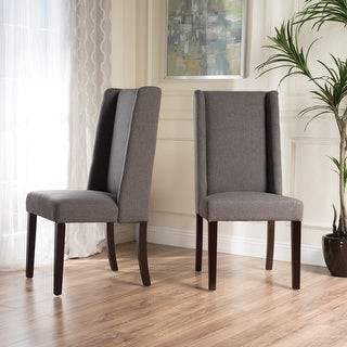 Christopher Knight Home Rory Wing-Back Fabric Dining Chair