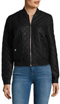 Vero Moda Faux Leather Quilted Bomber Jacket