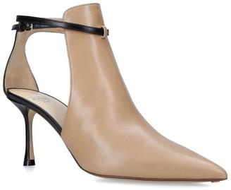 Francesco Russo Leather Cut-Out Megan Boots 75