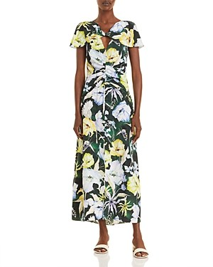 Jason Wu Floral Print Silk Day Dress
