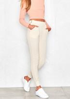 Missy Empire Dana Cream Zip Detail Sport Trousers