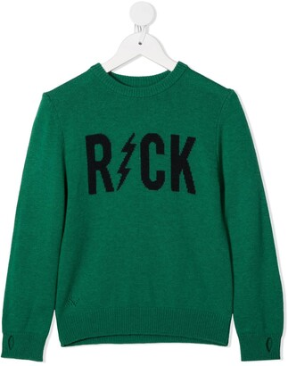 Zadig & Voltaire Kids Slogan Embroidered Jumper