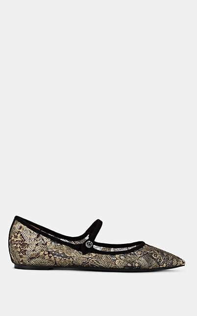 Tabitha Simmons Women's Hermione Spark Lace & Suede Flats - Gdlcbkksu