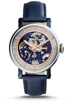 Fossil Original Boyfriend Automatic Blue Leather Watch