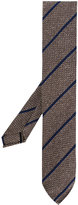 Lardini embroidered stripe tie