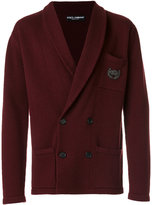 Dolce & Gabbana embroidered shawl lapel jacket - men - Cashmere - 50