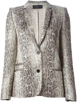 Zadig & Voltaire 'Vedaz Python Deluxe' jacket - women - Cotton/Polyester/Viscose - 38
