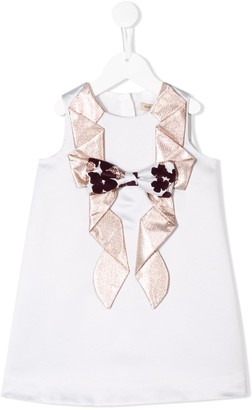 Hucklebones London Origami Bow Shift Dress