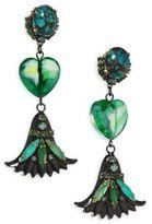Erickson Beamon Emerald City Drop Earrings