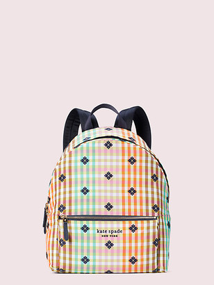 Kate Spade The Bella Plaid City Pack Large Backpack