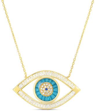 Sphera Milano Gold Over Silver Evil Eye Pendant Necklace