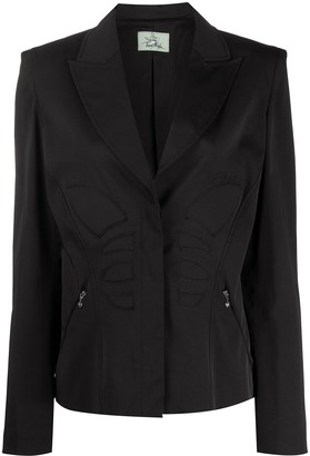Thierry Mugler Pre Owned Padded Details Slim-Fit Jacket