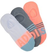 adidas 3 Pack Women's Adistripe No Show Socks