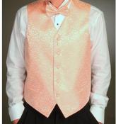 Ferrecci Men's Four-piece Peach Vest Set